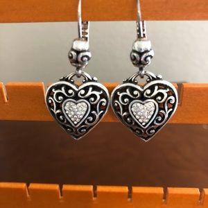 Brighton Reno Heart Earrings
